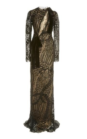 Moda Operandi Tom Ford Bow-embellished Lace Gown