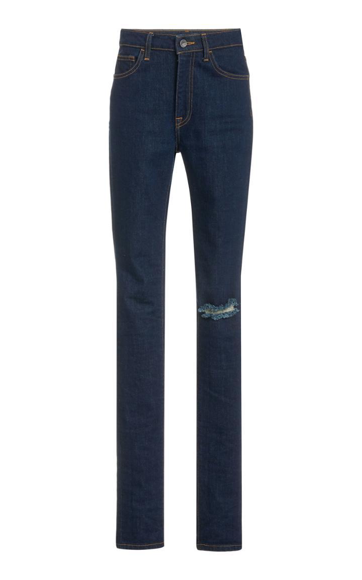 Moda Operandi Brandon Maxwell Lightly Distressed Slim Straight-leg Jeans