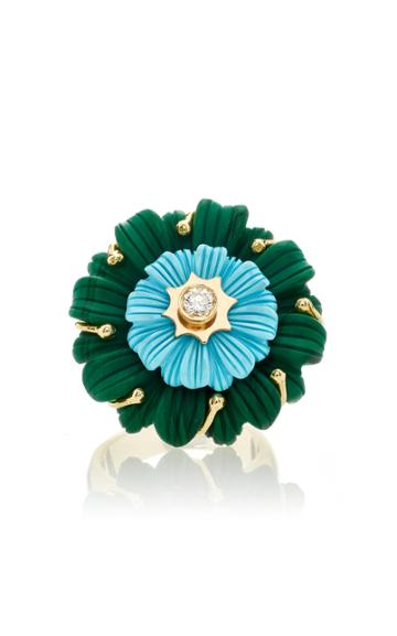 Brent Neale M'o Exclusive Layered Flower Cocktail Ring
