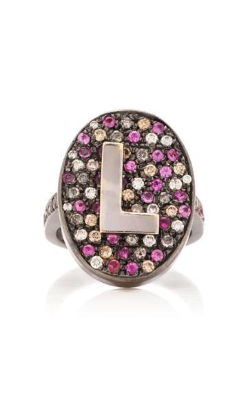 Moda Operandi Carolina Bucci Rose Pav Initial Ring