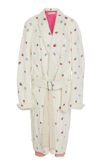Marni Embroidered Mink Fur Duster