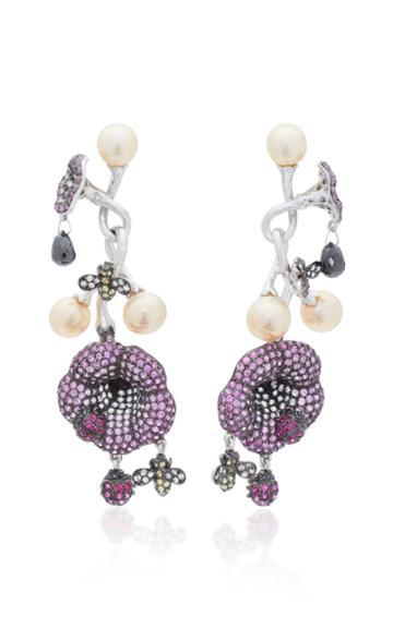Wendy Yue 18k White Gold Multi-stone Earrings