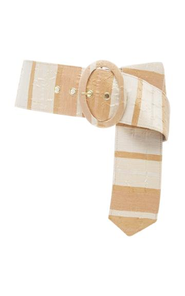 Cult Gaia Lia Oversized Striped Gauze Belt