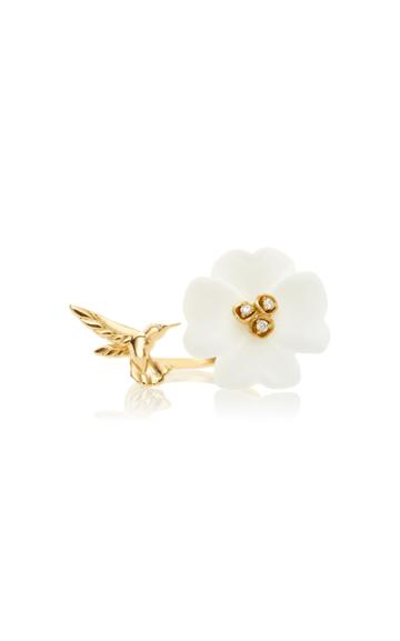 Brent Neale M'o Exclusive Clover & Hummingbird Double Sided Ring