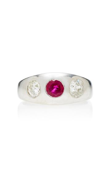 Toni + Chlo Goutal One-of-a-kind Patinum Gypsy Ring