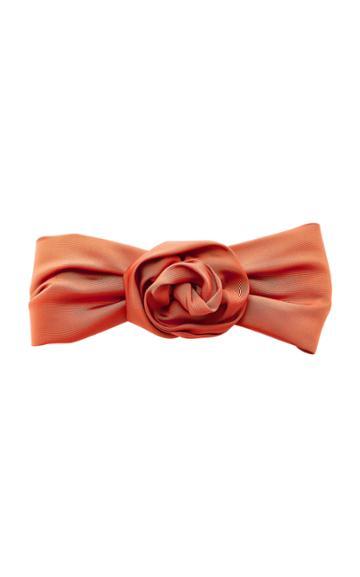 Jennifer Behr Rosette Silk Headwrap