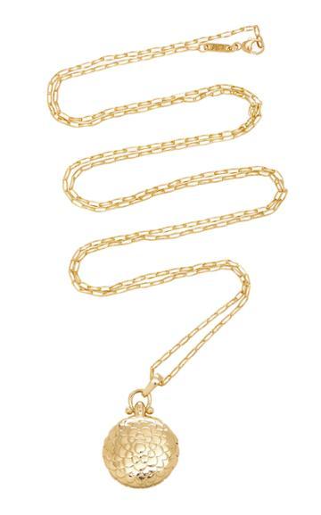 Monica Rich Kosann Petite Scalloped Locket 30 Necklace