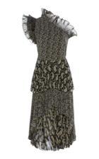 Altuzarra Kamala Ruffled Pliss Dress