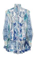 Moda Operandi Zimmermann Glassy Long Sleeve Mini Dress Size: 1