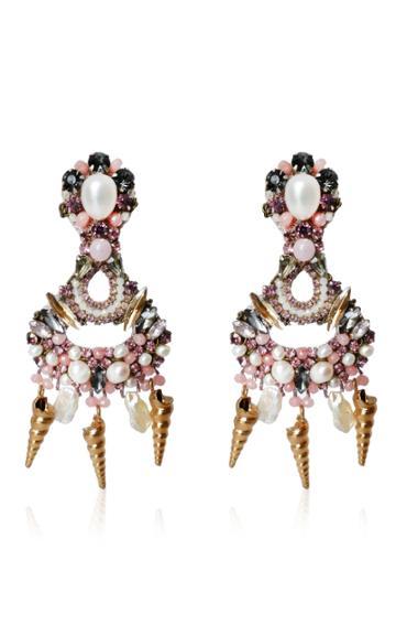Moda Operandi Ranjana Khan Fuschia Earrings