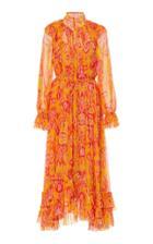 Moda Operandi Zimmermann Brightside Frilled Midi Dress Size: 0