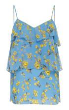 Goen.j Floral Printed Ruffled Camisole