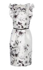 Monique Lhuillier Floral Printed Sheath Dress