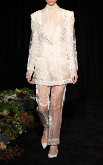 Moda Operandi Danielle Frankel Astrid Liquid Organza Coat Dress Size: 4