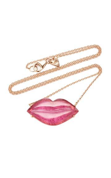 Christina Alexiou Red Tourmaline Lip Necklace