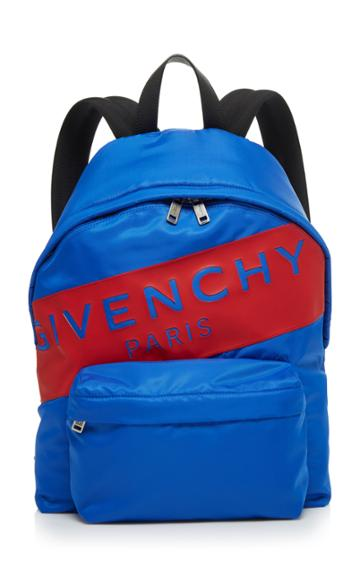 Givenchy Urban Backpacks Blue Logo Backpack
