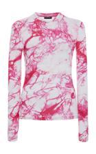 Moda Operandi Versace Tie-dye Fitted Cady Top Size: 36