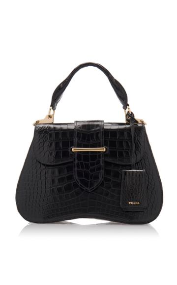 Prada Large Crocodile Cartella Bag