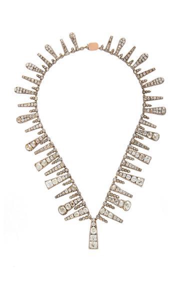 Simon Teakle Antique Diamond Fringe Necklace