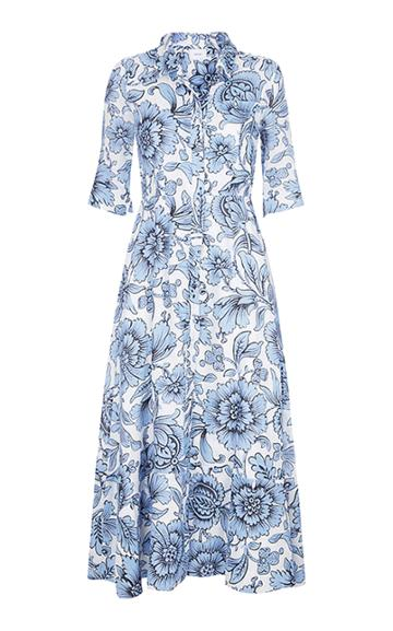 Erdem Kasia Printed Linen Shirt Dress