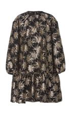 Rochas Floral Brocade Midi Dress