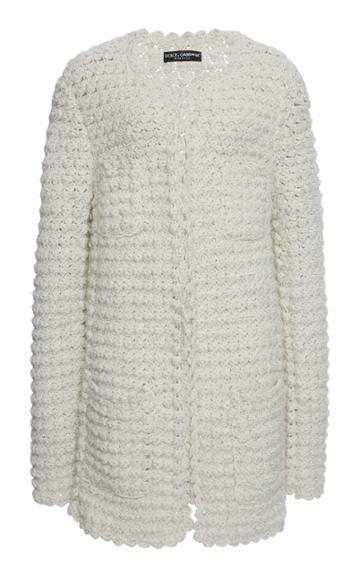 Moda Operandi Dolce & Gabbana Fringed Knit Cardigan