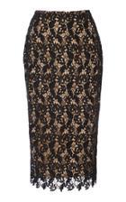 Reem Acra Lace Pencil Skirt