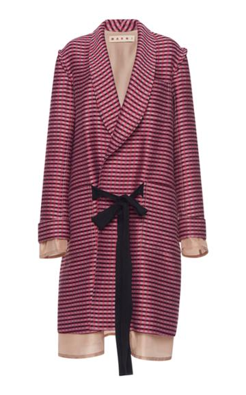 Marni Plaid Duster Coat