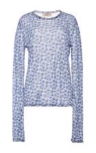 Tak.ori Blue Crewneck Knit Top