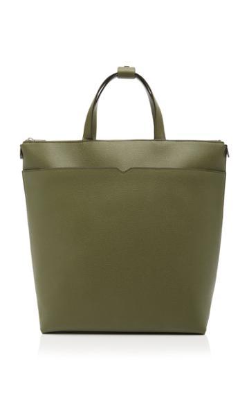 Valextra V Leather Backpack