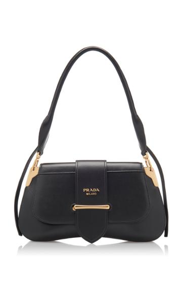 Prada Brushed Leather Pattina Bag