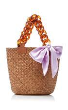 Donni. M'o Exclusive Mini Sugar Woven Straw Tote