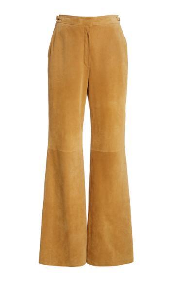 Moda Operandi Gabriela Hearst Vesta Suede Flared Trousers