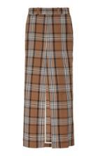 A.w.a.k.e. Plaid Slit Maxi Pant Skirt