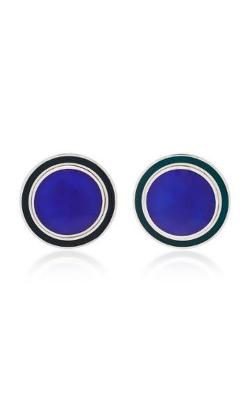 Silhouette M'o Exclusive Silver-tone Enamel Earrings