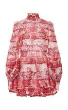Moda Operandi Zimmermann Wavelength Spliced Mini Dress Size: 0