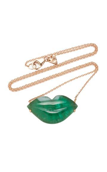 Christina Alexiou Green Tourmaline Lip Necklace
