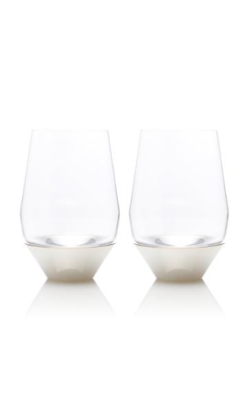 Puiforcat Set-of-two Silver Red Wine Glasses