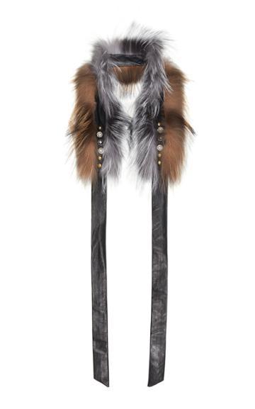 Demarson Yana Embellished Two-tone Fox Fur Scarf
