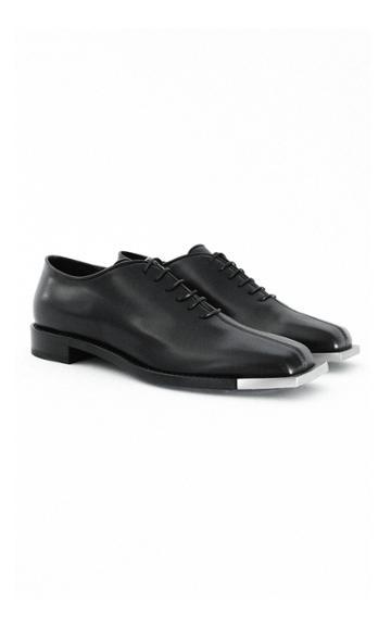 Moda Operandi Peter Do Leather Silver-tone Oxfords