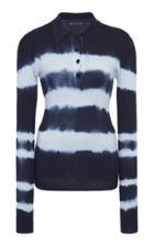 Moda Operandi Versace Tie-dye Collared Silk Top Size: 36