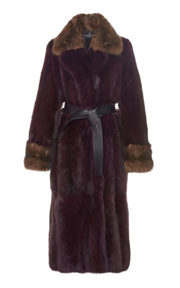 J. Mendel Two-tone Sable Fur Coat
