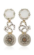 Lulu Frost One-of-a-kind Vintage Crystal White Drop Earrings
