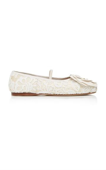 Fausto Puglisi Floral Ballet Flat