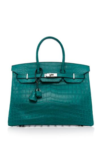 Heritage Auctions Special Collection Hermes 35cm Malachite Matte Nilo Crocodile Birkin