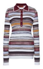 Moda Operandi Missoni Striped Collared Knit Shirt