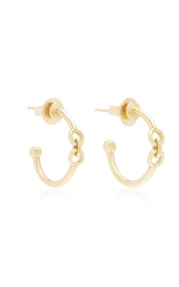Rush Jewelry Design 18k Yellow Gold Signature Chain Pixie Hoop Earring