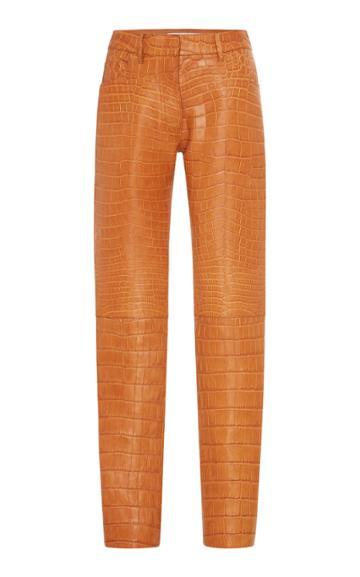 Roberto Cavalli Leather Crocodile Trousers