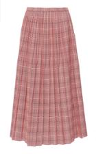 Marni Pleated Plaid Skirt