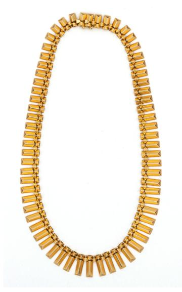 Moda Operandi Stephanie Windsor One Of A Kind Retro French 18k Gold Collar Necklace